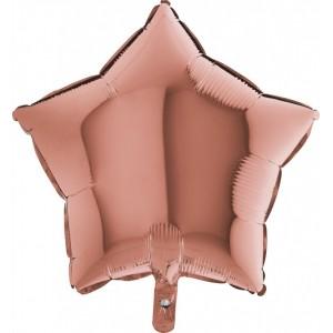 Baloane folie 45 cm SIMPLE STEA ROSE GOLD