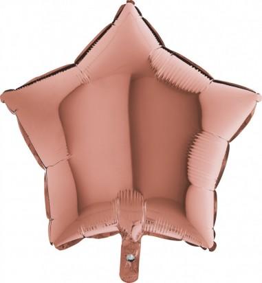 Foil balloons 45 cm SIMPLE STAR ROSE GOLD