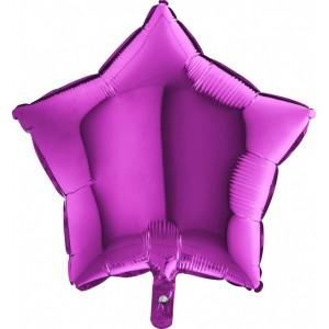 Foil balloons 45 cm SIMPLE PURPLE STAR