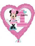 "Foil balloons, 45 cm Standard ""Minnie 1st Birthday"""