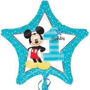"Baloane folie 45 cm Standard ""Mickey 1st Birthday"""