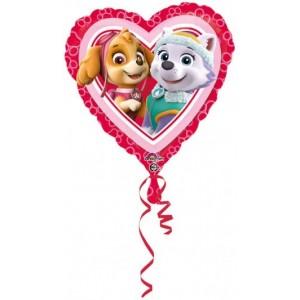 "Foil balloons, 45 cm Standard ""Paw Patrol Love"