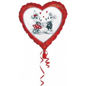 Foil balloons, 45 cm Standard Mickey & Minnie Love