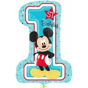 "Baloane figurina ""Mickey 1st Birthday"" 48 x 71cm"