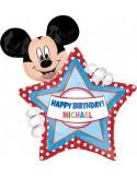 Balloons figurine personalisiert Mickey Mouse Birthday 60 x 76 cm