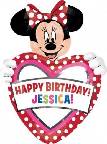 Baloane figurina personalisiert Minnie Mouse Birthday 60 x 83 cm