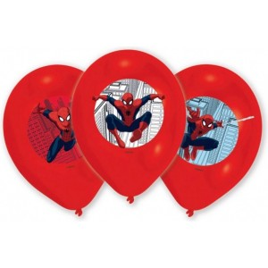 6 Latex Baloane Spider-Man 27.5 cm/11'