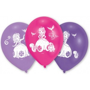 """10 Latex Balloons Sofia the First 25.4 cm/10"""""""