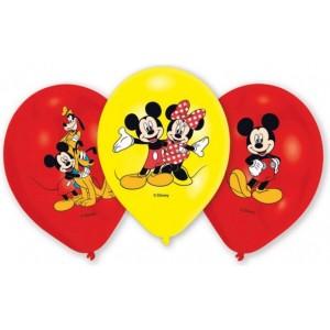 "6 Latex Balloons Micky 27.5 cm/11"""