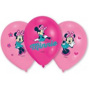 """6 Latex Balloons Minnie 27.5 cm/11"""""""
