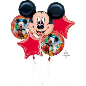 Bouquet Mickey Mouse Birthday Foil Balloon P75 Packaged