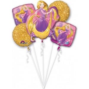 """Bouquet """"Rapunzel"""" 5 Foil Balloons, P75, packed"""