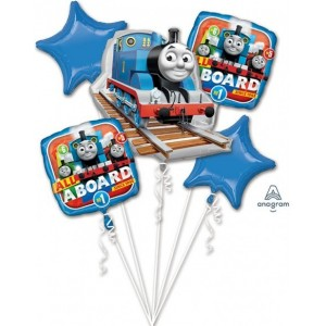 "Buchet ""Thomas the Tank Engine"" 5 Foil Balloons , P75, packed"