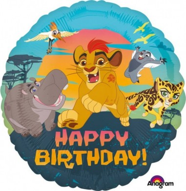 """Foil balloons, 45 cm """"the Lion Guard Happy Birthday"""""""