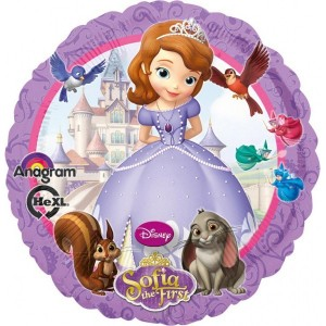 Foil balloons 45 cm Sofia the First