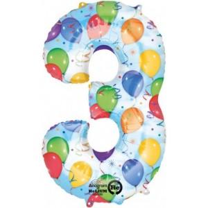 Balon cifra 3