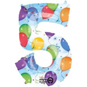 Balon cifra 5