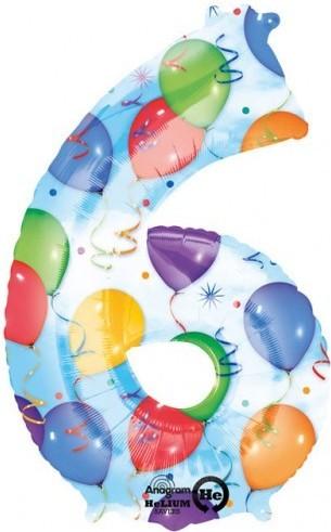 Balon cifra 6