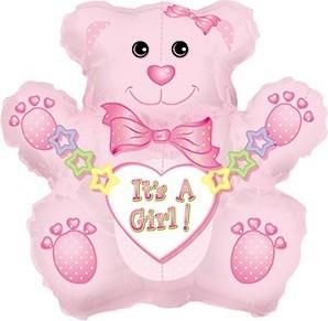 BALLOONS MINIFIGURINA TEDDY BEAR GIRL 36 CM