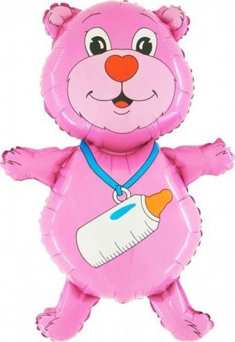 Baloane figurina ursulet pink 80CMx58CM