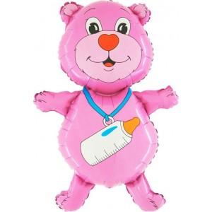 Balloons minifigurina teddy bear pink 30 cm
