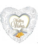 FOIL BALLOONS 45 CM WEDDING WISHES