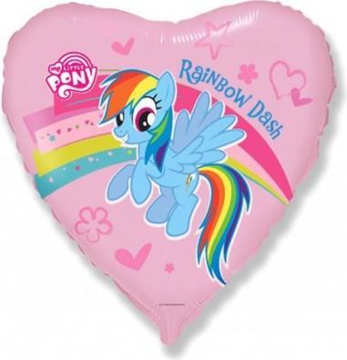 Foil balloons 45 cm My Little Pony Rainbow