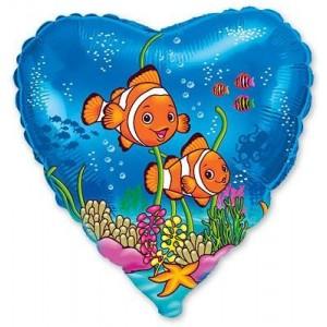 Baloane folie 45 cm Clownfish Friends
