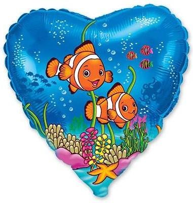 Foil balloons 45 cm Clownfish Friends
