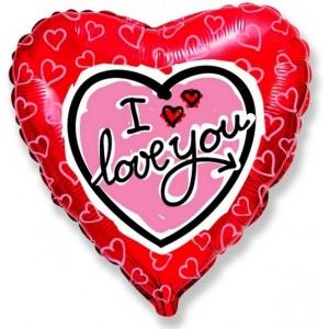 Baloane folie 45 cm Love You