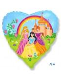 Foil balloons 45 cm Cor Princess Casttle