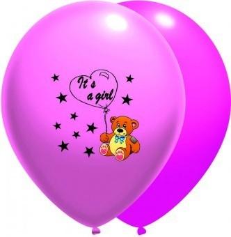 Baloane latex 30 cm IT S A GIRL roz