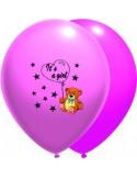 Baloane latex 30 cm IT S A GIRL roz luminos