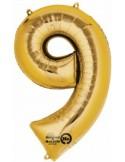 Balon cifra 9 ambalat 88 cm