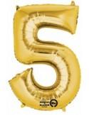 Balon cifra 5 ambalat 88 cm
