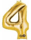 Balon cifra 4 ambalat 88 cm