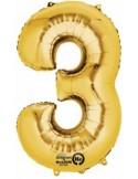 Balon cifra 3 ambalat 88 cm