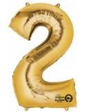 Balon cifra 2 ambalat 88 cm