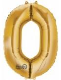 Balon cifra 0 ambalat 88 cm