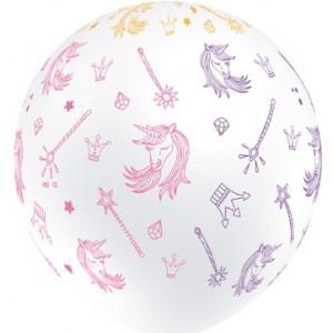 Baloane latex 30 cm Unicorn