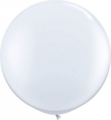Baloane latex jumbo 91 cm alb