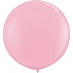 Baloane latex jumbo 91 cm roz deschis