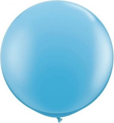 Baloane latex jumbo 91 cm albastru deschis