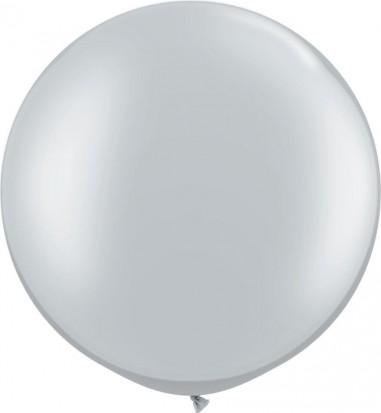 Baloane latex jumbo 91 cm argintiu