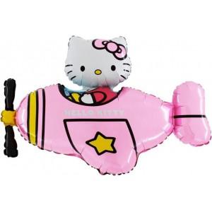 Baloane Figurine Hello kitty Plane 90cmx75cm