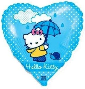 Foil balloons 45 cm Hello Kitty Umbrella