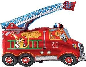 Baloane figurina masina pompieri 74cmx43cm