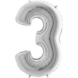 Baloane figurina cifra 3 dimensiune 95cm