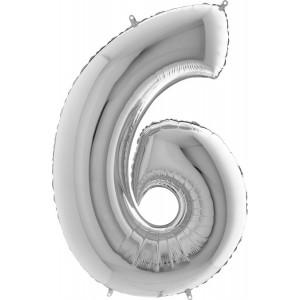 Baloane figurina cifra 6 dimensiune 95cm