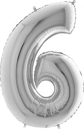 Baloane figurina cifra 6 dimensiune 100 cm